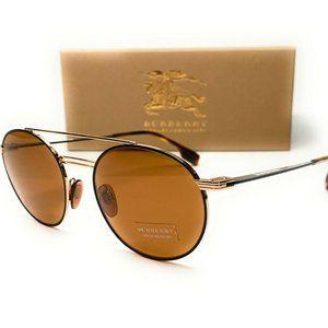 Burberry Matte Round 53mm Sunglasses